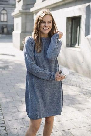 Ellie Wool Dress Blue