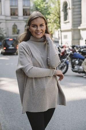 Krisy Merino Sweater Beige