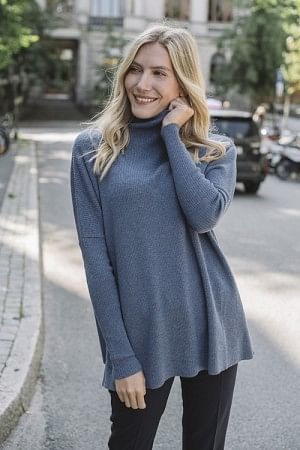 Krisy Merino Sweater Blue