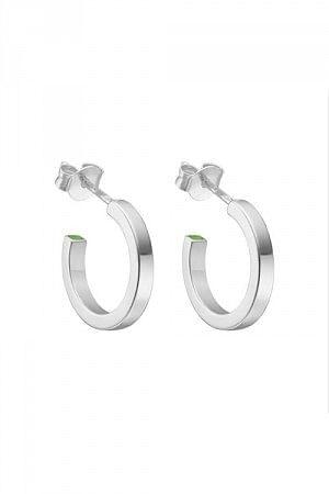 Plain Loop Hoops Silver