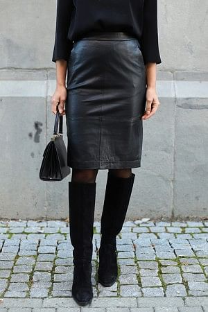 Kylie 635 Skirt Black Leather