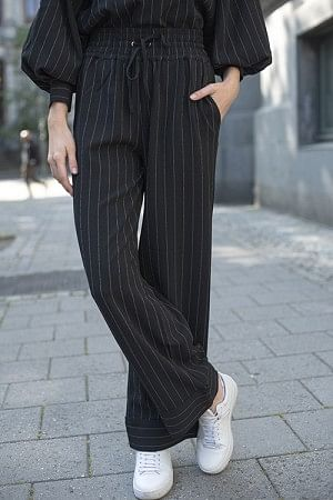 Heavy Crepe Pants Black