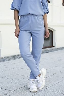 Heavy Crepe Pants Forever Blue