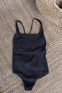 Textured Swimsuit Black