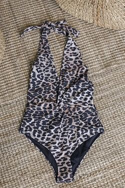 Printed Swimsuit Leopard