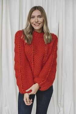 The Julliard Mohair Fiery Red