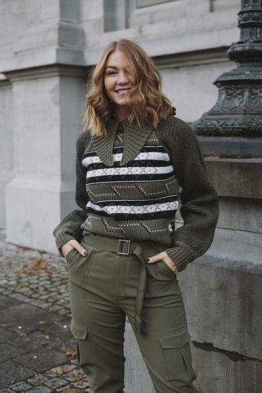 Knit Pattern Pullover Kalamata