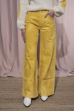 Shiloh Wide Pants Minion Yellow