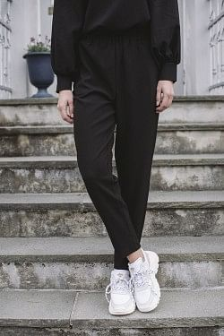 Clark Slim Pants Black