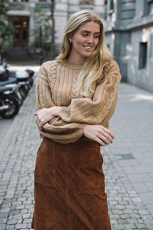 Gestuz Camela Pullover Tannin genser