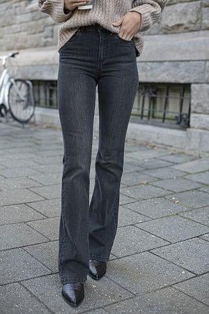 Emilinda Long Jeans Charcoal