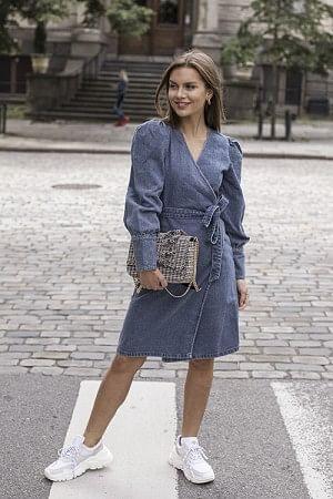Serala Dress Denim Blue