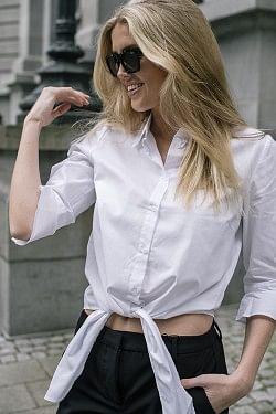 Ibby Cropped Shirt Bright White