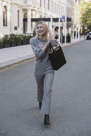 Littia Pants Gray Flannel