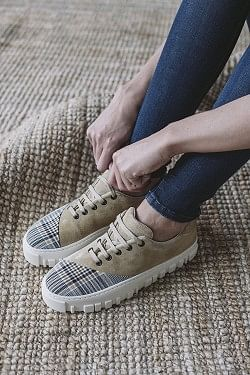 Jar Sneaker White Check