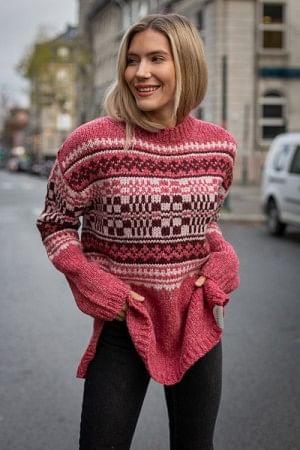 Beryll Knit Pink Pattern