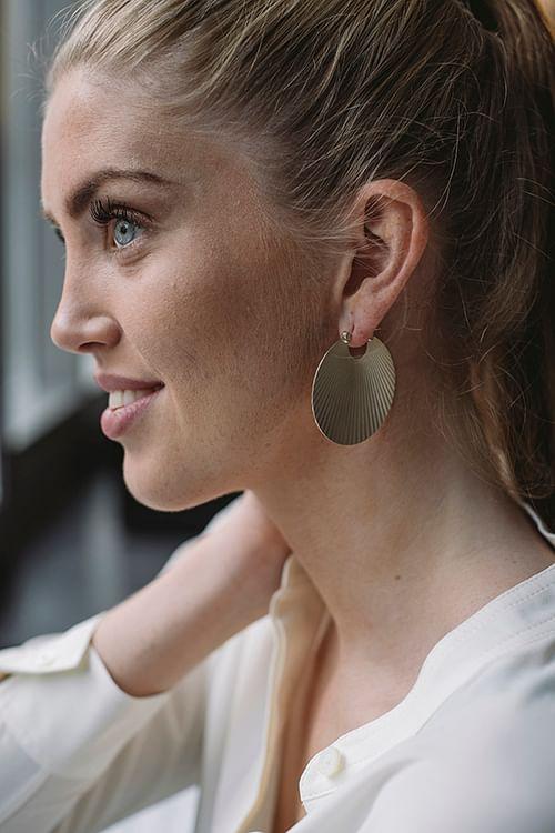 Big Shell Earrings Silver