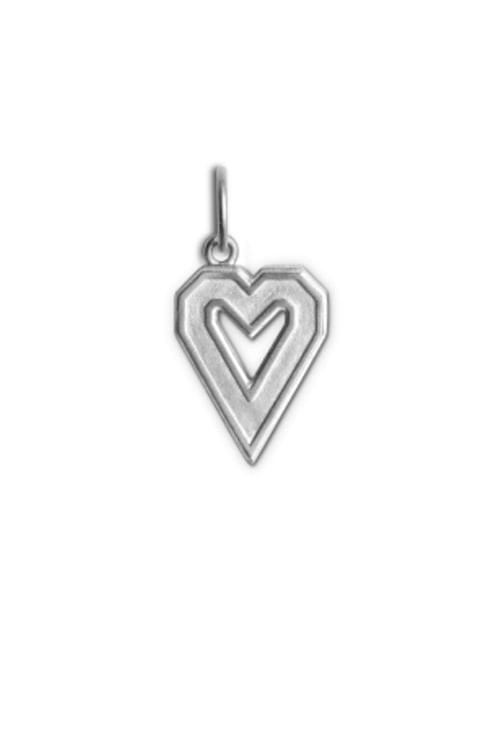 Jane Kønig Letter Pendant Heart Silver smykkeanheng