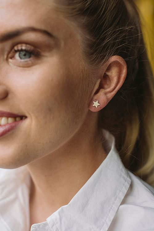 Jane Kønig Star Stud Silver øredobber