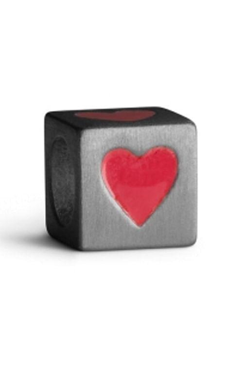 Jane Kønig Love Letters S-Heart Red anheng smykke