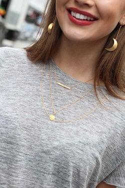 Half Moon Earrings Gold