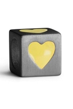 Love Letters Heart Yellow Silver