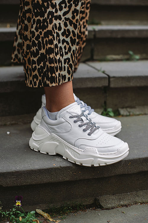 Sprint Leather Sneakers White | Carma