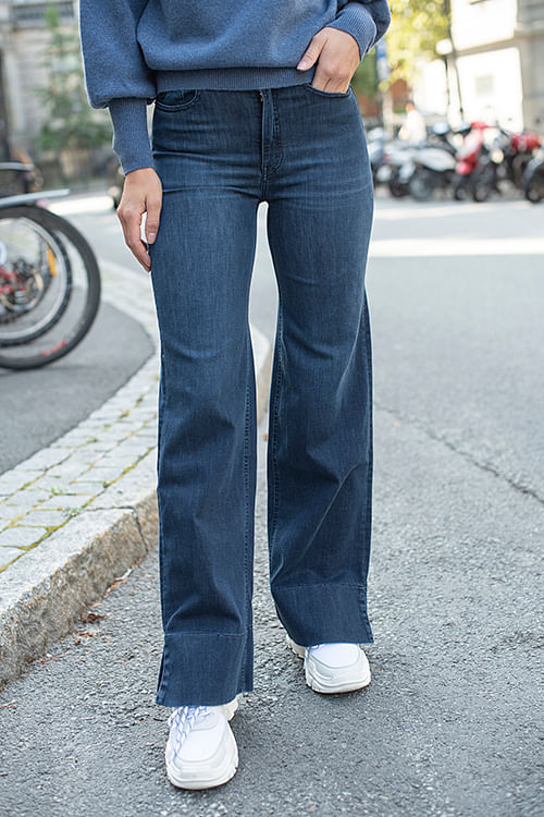 Lois Palazzo Side Leia Beat Rinse jeans