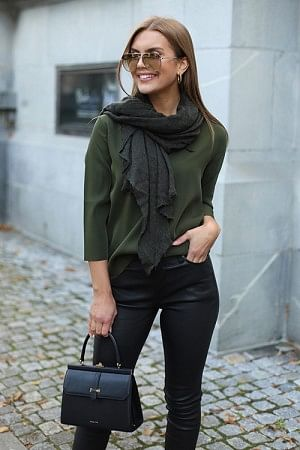 Luxury Medium Scarf Green