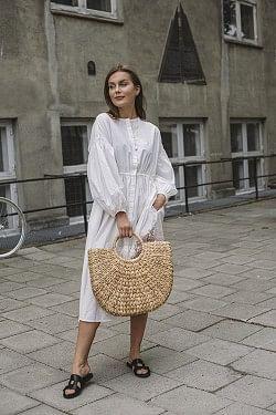 Getty Dress White