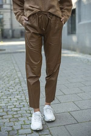 Kylie Leather Pants Camel