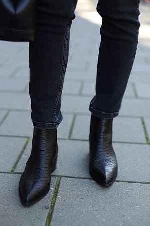 Sage Boots Black Croco