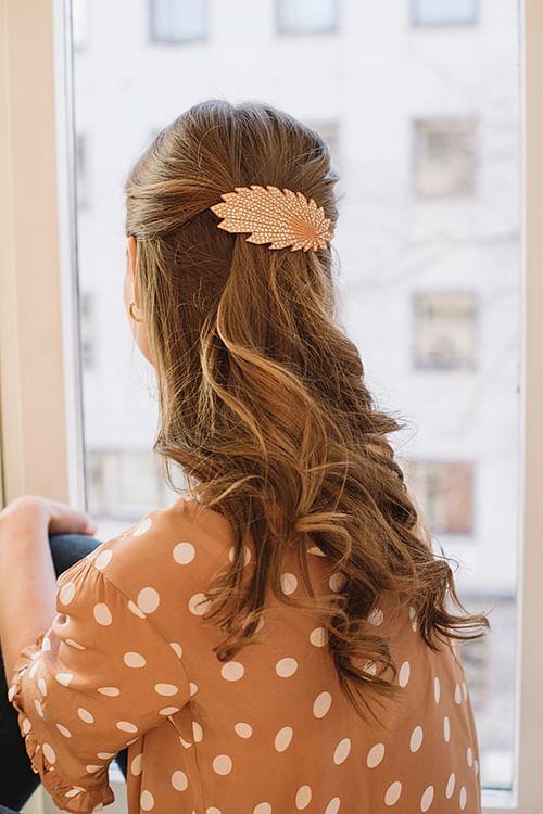 Pico Vifte Barette Hair Clip Oransje hårspenne