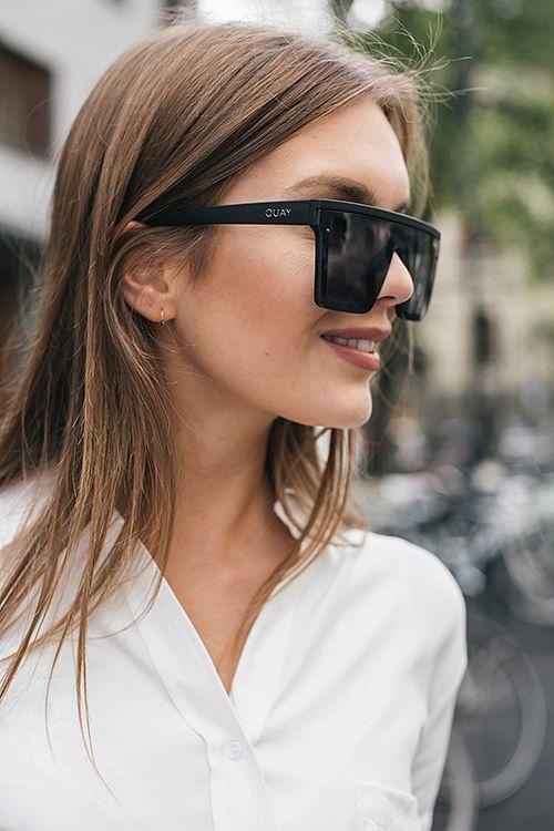 QUAY Hindsight Black solbriller