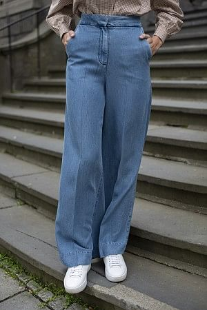 Lyle Trousers Blue Denim