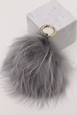 Raccoon Pom Pom Stor Grey
