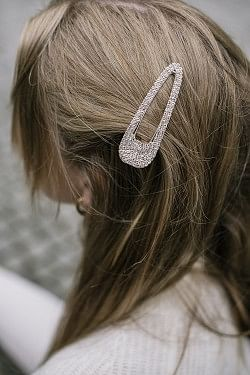 Big Bling Crystal Hairclip Gold