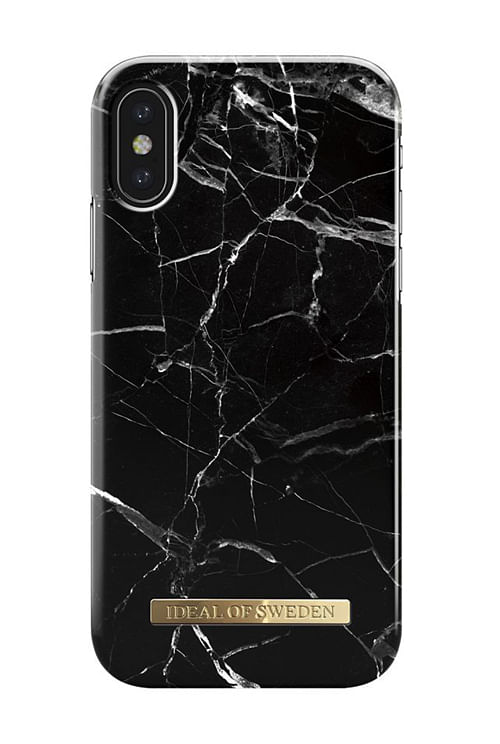 iDeal of Sweden Black Marble Iphone X mobildeksel